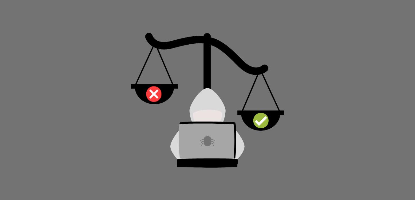 Hacker e bilancia - ethical hacker