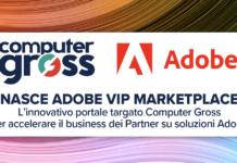 Banner annuncio logo computer gross e Adobe